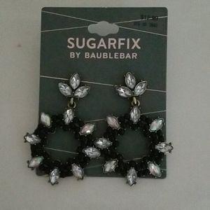 Baublebar Earrings Black Crystal
